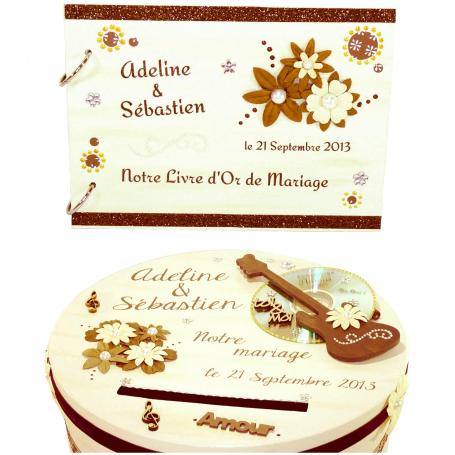 Kit Décoration de Mariage Thème Musique Marron et ivoire