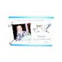 Livre d'Or Baptême Cigogne Bébé Blanc et Bleu