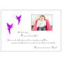 Livre d'Or de Baptême fille thème Fées violet et blanc page papier