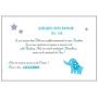 Livre d'Or Baptême éléphant avec étoiles Bleu et Blanc page papier