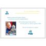 Livre d'Or Baptême Victor et Lucien Bleu et Blanc page intérieure