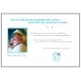 Livre d'Or en Bois Baptême garçon Ours biberon bleu