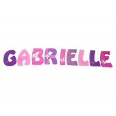 Lettre Prénom Alphabet Porte Rose Parme Violet Thème Fleurs