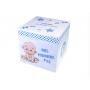 Boite Souvenirs Cube Naissance Thème Bébé petits pieds garçon bleu