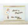 Livre d'Or Mariage en bois Thème Musique personnalisé avec prénoms et date