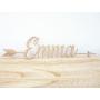 Prénom Emma en bois 40 cm avec flèches déco murale bébé