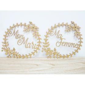 Accessoires Chaise Déco Bois Mariage Bohème Mari Femme