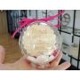 Boule Plexiglass avec Bonbons Cadeau Fin d'Année Ecole Rose fuchsia