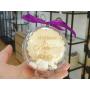 Boule Plexiglass avec Bonbons Cadeau Fin d'Année Ecole Violet