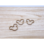 lot de 20 Têtes de Mickey Déco de Table en bois brut