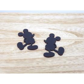 Silhouettes Mickey Noires Déco de Table en bois