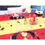 silhouette Mickey Noire Déco de Table en bois Baptême