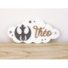 Plaque de Porte en bois Garçon Star Wars