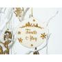 Boule de Noël Bois et Gravure Nom de Famille