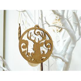Boule déco de Noël en Bois Rennes