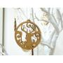 Boule déco de Noël en Bois Etoile Sapin Biscuit et Renne