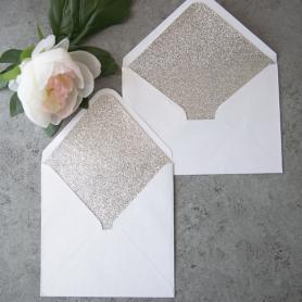 Doublure d'enveloppe en Papier Brillant Argent