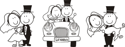motif urne mariage princesse et prince noir et blanc