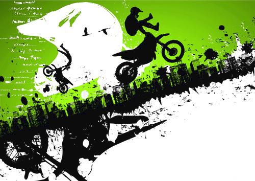 déco anniversaire adulte thème motocross urne en bois