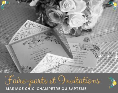 Invitations Mariage Chic